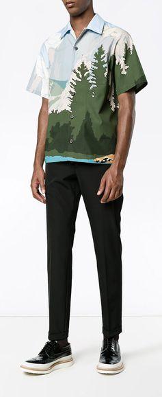 PRADA Mountains Printed Bowling Shirt, explore Prada on Farfetch now.