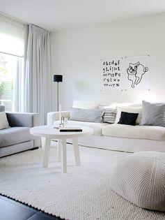 Living branco Fonte: avenuelifestyle