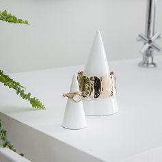 Porte bague cône blanc Peak - porte bijoux