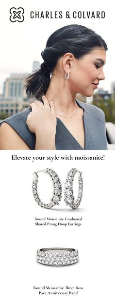 Receive 15% off your order with code PINTEREST15 for a limited time! --- Transition flawlessly from day to night with moissanite – the world's most brilliant gem. Experience Charles & Colvard's revolutionary brilliant, conflict-free and socially-responsible engagement rings and fine jewelry today. Shop now and enjoy free shipping, 60-day returns and 0% financing.