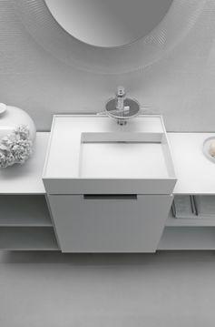 Petit meuble vasque compact - Kartell by Laufen, 650€