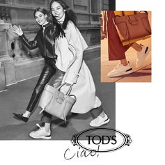The simplest of gestures tells a story of personality and innate taste: discover #CiaoByTods, the new Fall-Winter tale of Italian lifestyle. Photographer Craig McDean, Creative Direction Baron&Baron.  Talent: Fei Fei Sun, Elizabeth Love Grace
