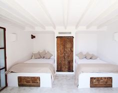 Simple built-in beds...