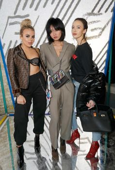 Tallia Storm, Betty Bachz and Sarah Stanbury at the FF Reloaded Experience in London.
