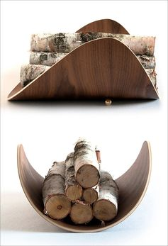 Firewood Storage Ideas – A Modern Bentwood Firewood Holder By Ciseal