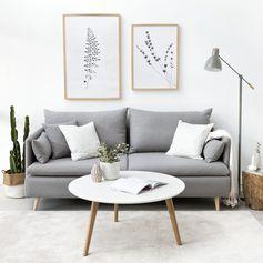 Danko sofá | ¡Dale un toque muy especial al salón! Danko es un sofá que combinará a la perfección con la decoración nórdica de tu hogar. Podrás disfrutar del ansiado momento de descanso en este cómodo y elegante modelo. * En la imagen: Sofá L (sin Chaise Longue), tapizado en Textura Plata y patas en roble. #kenayhome #home #danko #sofá #salón #decoración #diseño #interior #estilo #nórdico #relax #cómodo #elegante #nordik #scandinavian #design #grey #gris #white