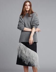 LE CIEL BLEU フェザータイトミディスカート