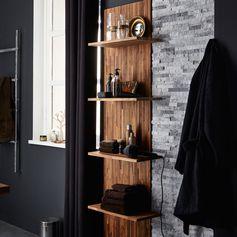 Mix des matières plaquettes de parement et bois