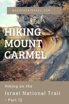 Hiking Mount Carmel on the Israel National Trail - Backpack Israel