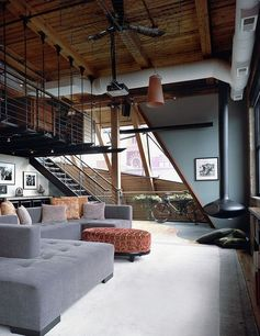 West Loop Aerie: Interior Design, Decor, Idea, Dream, Livingroom, Interiors, Living Room, Loft, House