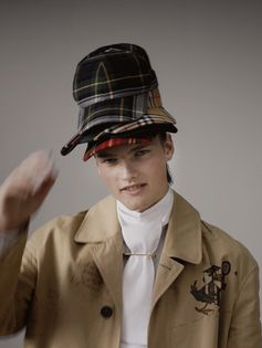Stacks of tartan and Vintage check. The new Burberry September collection.