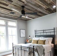 intérieur design minimaliste de chambre et déco rustique moderne