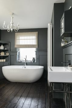 Image result for slate gray bathrooms victorian townhouse