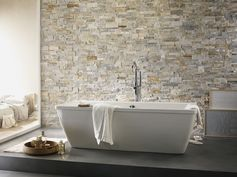 Plaquette de parement pierre naturelle beige Elégance. #mur #ideedeco #homedecor