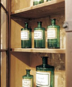 Admirers of fine American antiques—Federal sideboards, Windsor chairs, Chippendale sofas—won't want to miss this small (68-vendor), carefully curated exhibition in Manchester, New Hampshire.  Pictured: A set of apothecary bottles from the late 1800s tempts attendees at the New Hampshire Antiques Show.  nhada.org   - TownandCountryMag.com