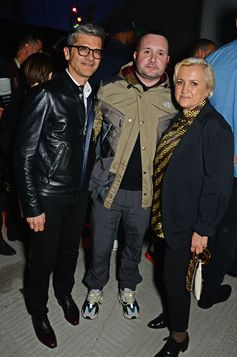 Serge Brunschwig, FENDI President and CEO, Silvia Venturini Fendi and Kim Jones at the FF Reloaded Experience in London.