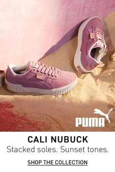 Stacked soles. Sunset tones. Cali Nubuck is now available at PUMA.com.