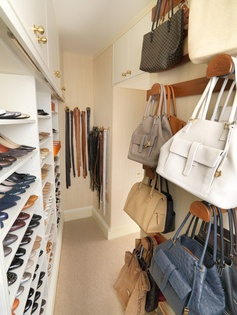 What a great idea for bag storage. Much better than my current method of shoving them into the top, back corner of my closet.