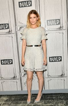 Actress Kate Mara wears a Burberry dress to the Build Series discussion of 'Megan Leavey' in New York
