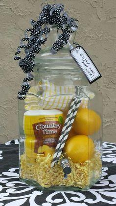 Lemonade dispenser christmas gift basket