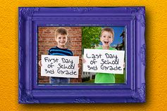 First-Last Day Collage - Commemorate the passing of a year with a photo from the first day and a photo of the last day displayed side by side. You can print your photos on the KODAK Picture Kiosk or the KODAK MOMENTS Apps. #lastdayofschool #photography