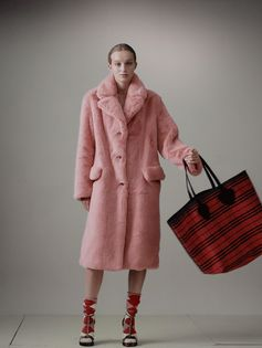 Tartan and soft faux fur. The new Burberry September collection.