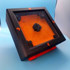 A magnetic clock that uses ball bearings as hands over a thin layer of sand. Printed by neil3dprints #prusai3 #practical