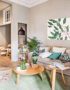 Уютная квартира с растительными мотивами в Барселоне | Пуфик - блог о дизайне интерьера