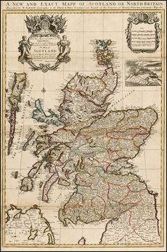 A New and Exact Mapp of Scotland or North=Britain . . . - Barry Lawrence Ruderman Antique Maps Inc.