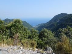View of Minori from above, climbing up to the Chiunzi Pass.