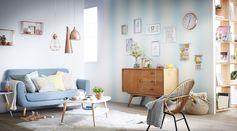 Ambiance salon pastel  #zodio #décoration #salon #pastel #tendance #lumineux