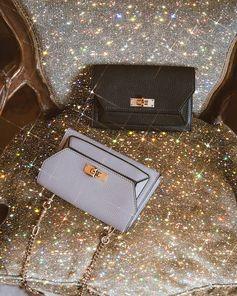 Shiny baroque, Sara Shakeel celebrates the Suzy bag.