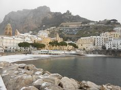 Amalfi with snow: a true rarity!