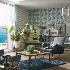 Adopter la tendance Riviera, née dans les années cinquante quelque part autour de la Méditerranée. Mélange d'un esprit chic et raffiné avec un petit air de vacances. #ideedeco #homedecor #tendance #sejour #salon