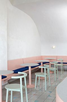 Therefore Studio design for Vacation Cafe. Get down (under) with 18 Inpsiring Australian Designers and Artists #australiandesign #australia #designinspiration #melbourne #vacationcafe