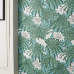 Papier peint intissé Palm leaves vert #leroymerlin #papierpeint #wallpaper #ideedeco #madecoamoi