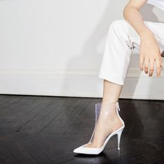 All clear! Sleek heels are reimagined in our cool transparent monogram, made from innovative non-PVC materials.  . #StellaMcCartney #StellasWorld
