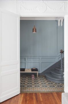 regardsetmaisons: Bleu grisé , inspiration couleur