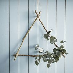 Suspension triangle branche de bois #inspiration #décoration #zodio #tendance #maritime