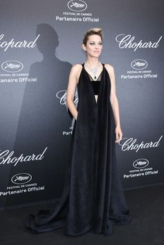 Actress Marion Cotillard stunned in a Valentino Haute Couture 2017-18 dress by Pierpaolo Piccioli at the Chopard Secret Night during the Cannes Film Festival. #Cannes2018