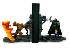 Fantastic Four Vs Doctor Doom Bookends