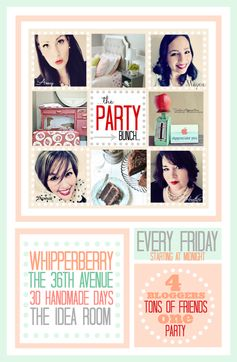 TPB Party Bunch Link Up... Every Friday to Sunday link up your projects over at  theidearoom.net , thirtyhandmadedays.com , whipperberry.com or the36thavenue.com Four bloggers = ONE BIG PARTY! We can't wait to see your projects!
