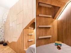 This Fun And Unique Kids Room Draws Design Inspiration From A Bear Cave | CONTEMPORIST