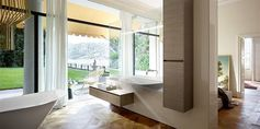 Burgbad loves open spaces. Therefor they designed bathroom rc40. Beautiful designed bathroom furniture.
