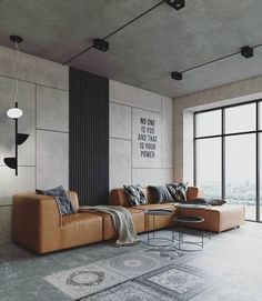 Modern living room space