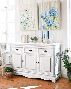 lovely painted buffet -  serene room