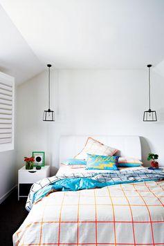 deco chambre blanche textiles couleurs