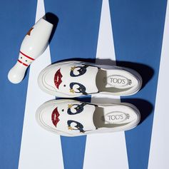 Strike a pose with these slip-ons. Discover more at tods.com #TodsLovesCircus