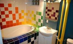 carrelage multicolore intéressant