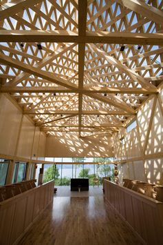 Beautiful roof structure: Tautra Monastery in Norway